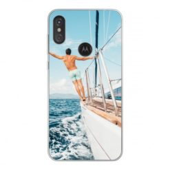 Coque personnalisée souple Motorola One (P30 Play) (Bords transparent)