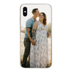 Coque personnalisée souple Apple iPhone Xs Max (Bords Transparent)