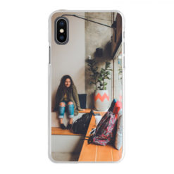 Coque personnalisée rigide Apple iPhone X/Xs (Bords transparent)