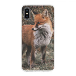 Coque personnalisée souple Apple iPhone X/Xs (Bords Transparent)