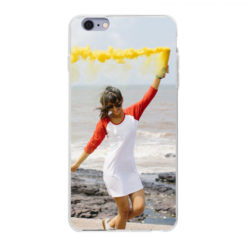 Coque personnalisée souple Apple iPhone 6/6s Plus (Bords Transparent)