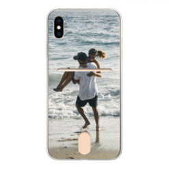 Coque personnalisée souple Apple iPhone X/Xs Credit card (Bords Transparent)